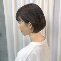 ボブ 極細ハイライト パープルアッシュ イルミナカラー ヘアスタイルや髪型の写真・画像