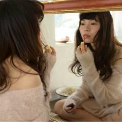 フェミニン ガーリー セミロング ゆるふわ ヘアスタイルや髪型の写真・画像