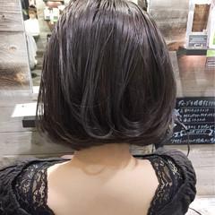 外国人風 色気 ボブ 斜め前髪 ヘアスタイルや髪型の写真・画像