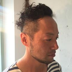 メンズ パーマ 坊主 ストリート ヘアスタイルや髪型の写真・画像