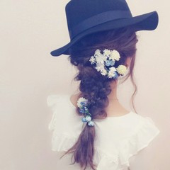 ロング 大人かわいい 結婚式 ヘアアレンジ ヘアスタイルや髪型の写真・画像