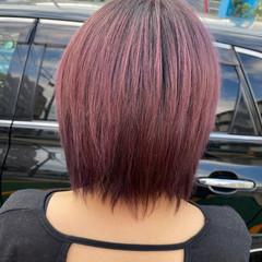 バレイヤージュ ショートヘア インナーカラー ショートボブ ヘアスタイルや髪型の写真・画像