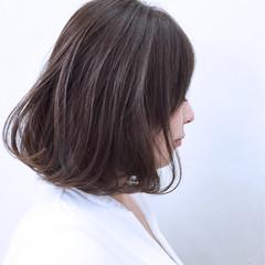 アッシュ ボブ インナーカラー 暗髪 ヘアスタイルや髪型の写真・画像