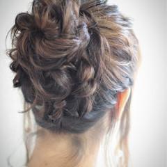 お団子 フェミニン ゆるふわ 外国人風 ヘアスタイルや髪型の写真・画像