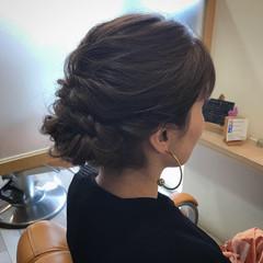 大人可愛い 結婚式 ヘアアレンジ くるりんぱ ヘアスタイルや髪型の写真・画像
