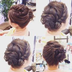 ツイスト 大人かわいい セミロング ハイライト ヘアスタイルや髪型の写真・画像