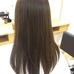 ブラウン ナチュラル ロング 艶髪 ヘアスタイルや髪型の写真・画像