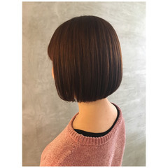 モテボブ タンバルモリ ミニボブ ブラウンベージュ ヘアスタイルや髪型の写真・画像