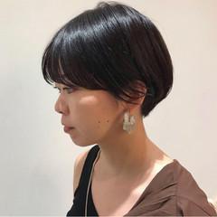 ショートマッシュ ショート 黒髪 黒髪ショート ヘアスタイルや髪型の写真・画像