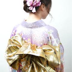 編み込み 成人式 ねじり ヘアアレンジ ヘアスタイルや髪型の写真・画像