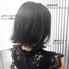 ミルクティーグレージュ ボブ アッシュグレージュ グレージュ ヘアスタイルや髪型の写真・画像