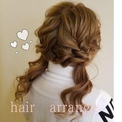 ふわふわヘアアレンジ 簡単ヘアアレンジ ヘアアレンジ ガーリー ヘアスタイルや髪型の写真・画像