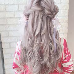 大人可愛い ハイトーン ミルクティーベージュ 前髪 ヘアスタイルや髪型の写真・画像
