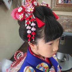 エレガント 和装 セミロング 着物 ヘアスタイルや髪型の写真・画像