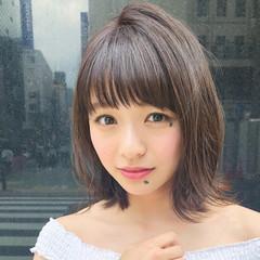 ミディアム デート ヘアアレンジ ゆるふわ ヘアスタイルや髪型の写真・画像