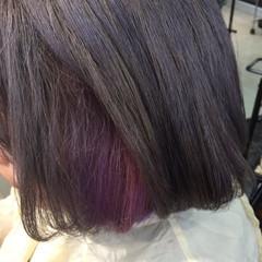 モード ヘアアレンジ 個性的 インナーカラー ヘアスタイルや髪型の写真・画像