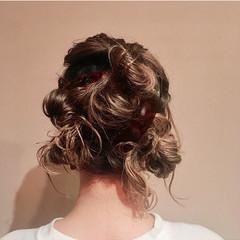 ヘアアレンジ 簡単ヘアアレンジ フェミニン お団子アレンジ ヘアスタイルや髪型の写真・画像