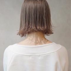 ミルクティーベージュ ミルクティー グレージュ ナチュラル ヘアスタイルや髪型の写真・画像