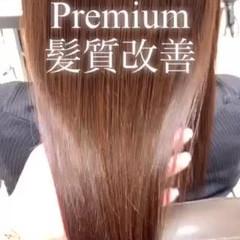 ロング ナチュラル 髪質改善トリートメント 髪質改善カラー ヘアスタイルや髪型の写真・画像