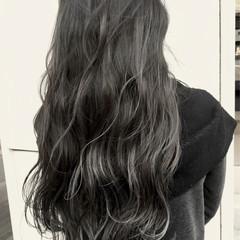 ハイライト 外国人風 バレイヤージュ ナチュラル ヘアスタイルや髪型の写真・画像