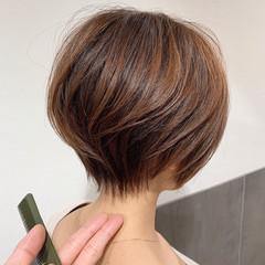 ハンサムショート ショートヘア ナチュラル 丸みショート ヘアスタイルや髪型の写真・画像
