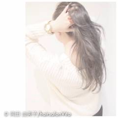 ストリート 黒髪 秋 外国人風カラー ヘアスタイルや髪型の写真・画像