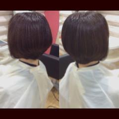 ミニボブ ボブ 髪質改善トリートメント 髪質改善カラー ヘアスタイルや髪型の写真・画像