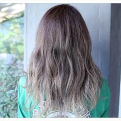 グラデーションカラー アッシュ 上品 外国人風 ヘアスタイルや髪型の写真・画像