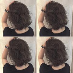 ミディアム ストリート 渋谷系 グレージュ ヘアスタイルや髪型の写真・画像