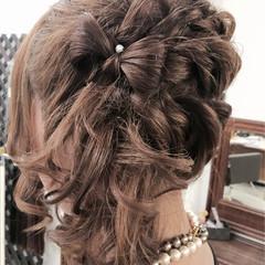 セミロング ヘアアレンジ 二次会 結婚式 ヘアスタイルや髪型の写真・画像