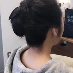 ヘアアレンジ エレガント 結婚式 セミロング ヘアスタイルや髪型の写真・画像