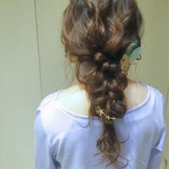 編み込み 結婚式 ヘアアレンジ 大人かわいい ヘアスタイルや髪型の写真・画像