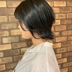 ナチュラル 大人ショート ショート イルミナカラー ヘアスタイルや髪型の写真・画像
