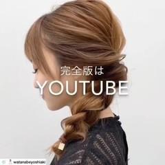 フェミニン アンニュイほつれヘア 簡単ヘアアレンジ ロング ヘアスタイルや髪型の写真・画像