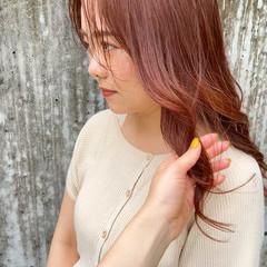 赤髪 オレンジカラー 暖色 ロング ヘアスタイルや髪型の写真・画像