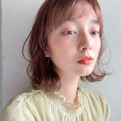 デジタルパーマ ミディアム デート 大人かわいい ヘアスタイルや髪型の写真・画像