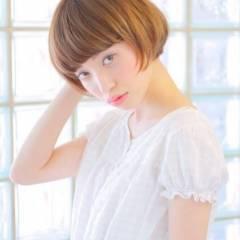 ショート モテ髪 ナチュラル ショートボブ ヘアスタイルや髪型の写真・画像