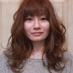 ゆるふわ ロング フェミニン デート ヘアスタイルや髪型の写真・画像
