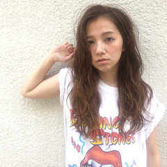 外国人風 ストリート グラデーションカラー パーマ ヘアスタイルや髪型の写真・画像