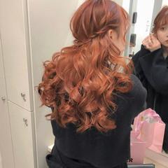 簡単ヘアアレンジ ガーリー ヘアアレンジ ロング ヘアスタイルや髪型の写真・画像