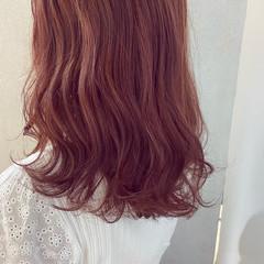 ラベンダーカラー ピンクブラウン ラベンダー ナチュラル ヘアスタイルや髪型の写真・画像