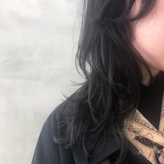 ニュアンスウルフ マッシュウルフ モード セミロング ヘアスタイルや髪型の写真・画像