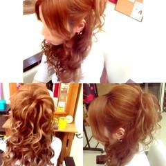 ハーフアップ ガーリー ヘアアレンジ 渋谷系 ヘアスタイルや髪型の写真・画像