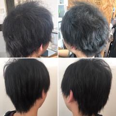 縮毛矯正 ベリーショート ショート 最新トリートメント ヘアスタイルや髪型の写真・画像