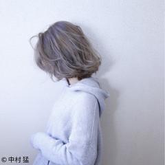 フェミニン ボブ スポーツ グレージュ ヘアスタイルや髪型の写真・画像