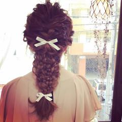 三つ編み 大人かわいい 編み込み ロング ヘアスタイルや髪型の写真・画像