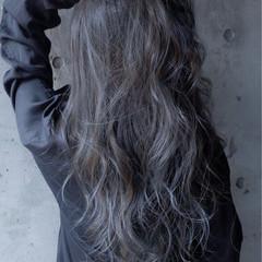 暗髪 ブルー ネイビー ストリート ヘアスタイルや髪型の写真・画像