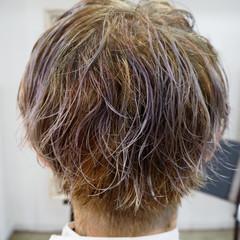アッシュ 外国人風 メンズ ストリート ヘアスタイルや髪型の写真・画像