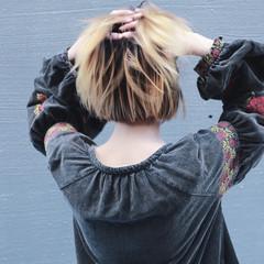 ストリート 前髪あり ヘアアレンジ ボブ ヘアスタイルや髪型の写真・画像