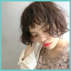 パーマ 前髪あり 大人かわいい ストリート ヘアスタイルや髪型の写真・画像